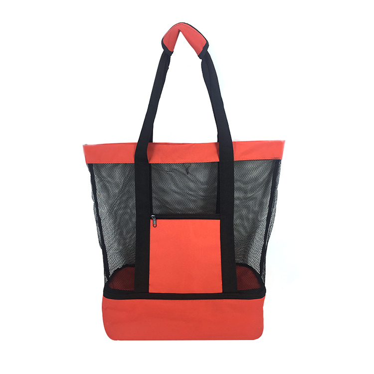 Mesh Beach Tote With Zipper Large Mesh Beach Bag