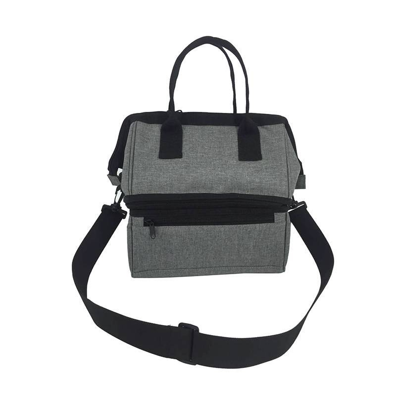 Double Lunch Bag with Large Capacity Thermal Food Bags